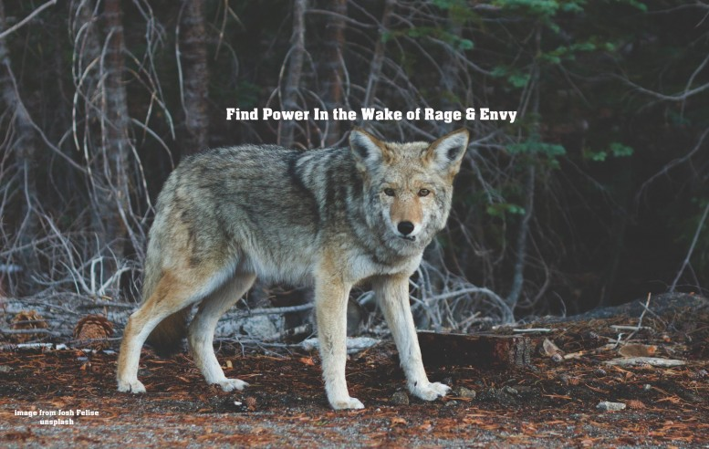 Find your power again after rage and envy